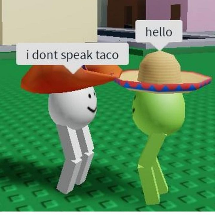 dank roblox memes i don't speak taco hello