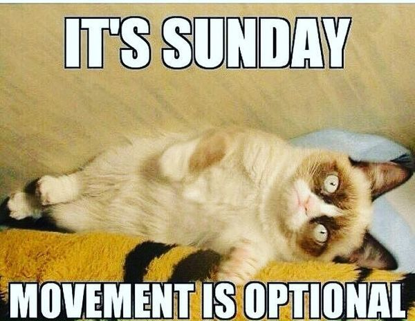 Its Sunday Movements Is Optional Sunday Night Meme
