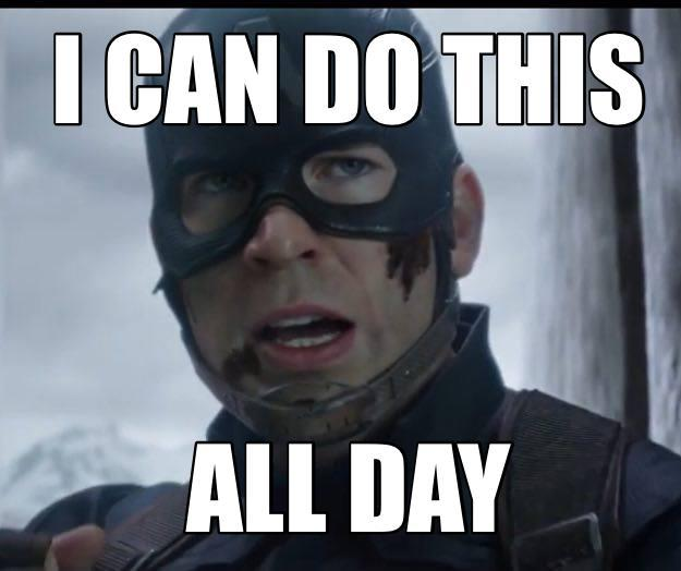 Latest All Day's Memes Captain America
