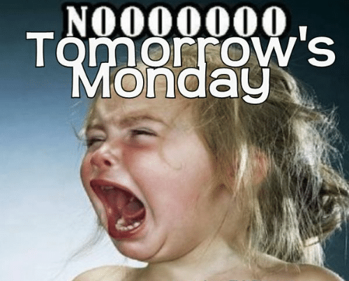 Noooooooo Tomorrows Monday Sunday Memes