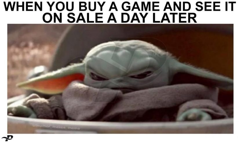funny yoda memes when you buy a game and see it on sale a day later