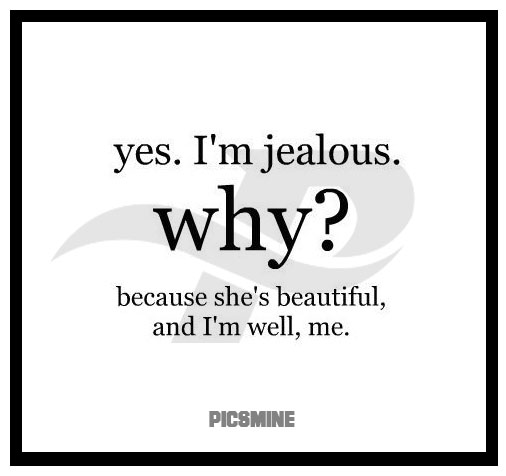 yes. i'm jealous. why because she's beautiful and i'm well, me. wcw captions