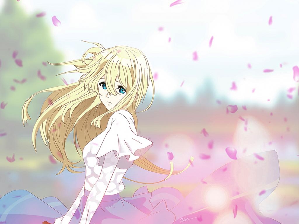 Wallpaper Of Sad Girl With Quotes Desktop Wallpaper Violet Evergarden Sad Anime Girl