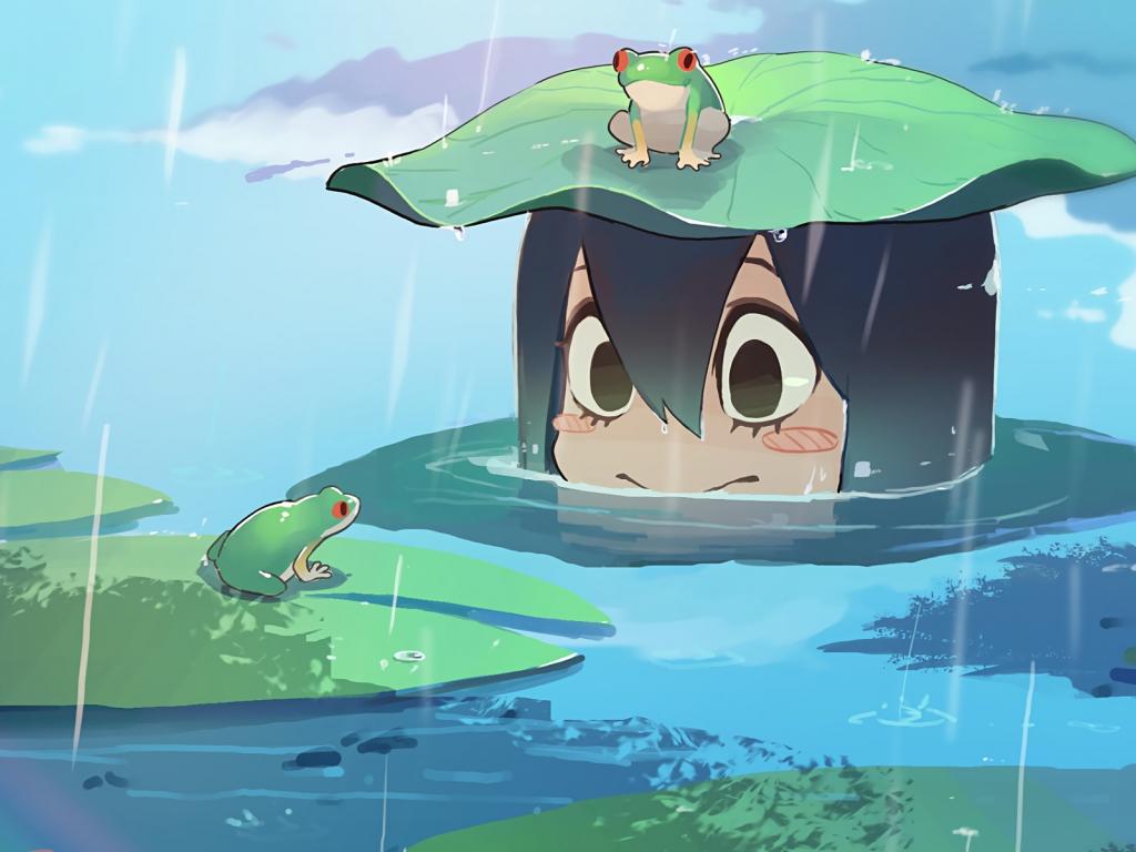 My Hero Academia Wallpaper Iphone X Desktop Wallpaper Tsuyu Asui Rain Frog Boku No Hero
