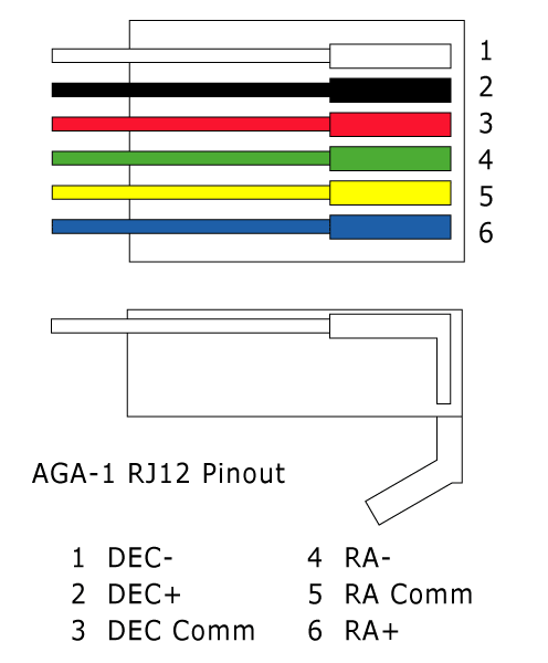 straight through serial cable wiring diagram double gang light switch how to use vixen aga-1 autoguider with losmandy mount