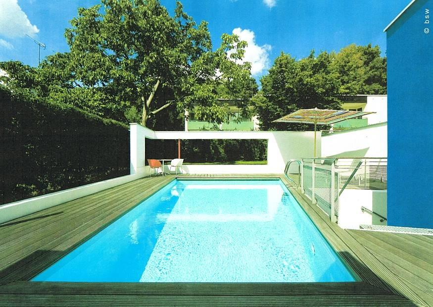 S Bilder Exclusiver Garten Stadtgartenn Swimmingpool Gegenstromanlage Als Erweiterung Moderner Hausgarten L