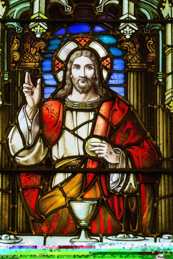 Stained Glass Windows with Jesus