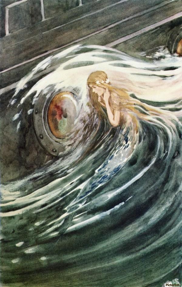 Little Mermaid Watches. Colour Illustration Helen