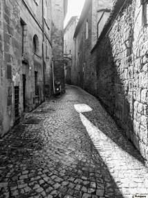 Narrow Cobblestone Alley Buildings; Orvieto