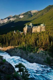 Bow Falls Banff National Park
