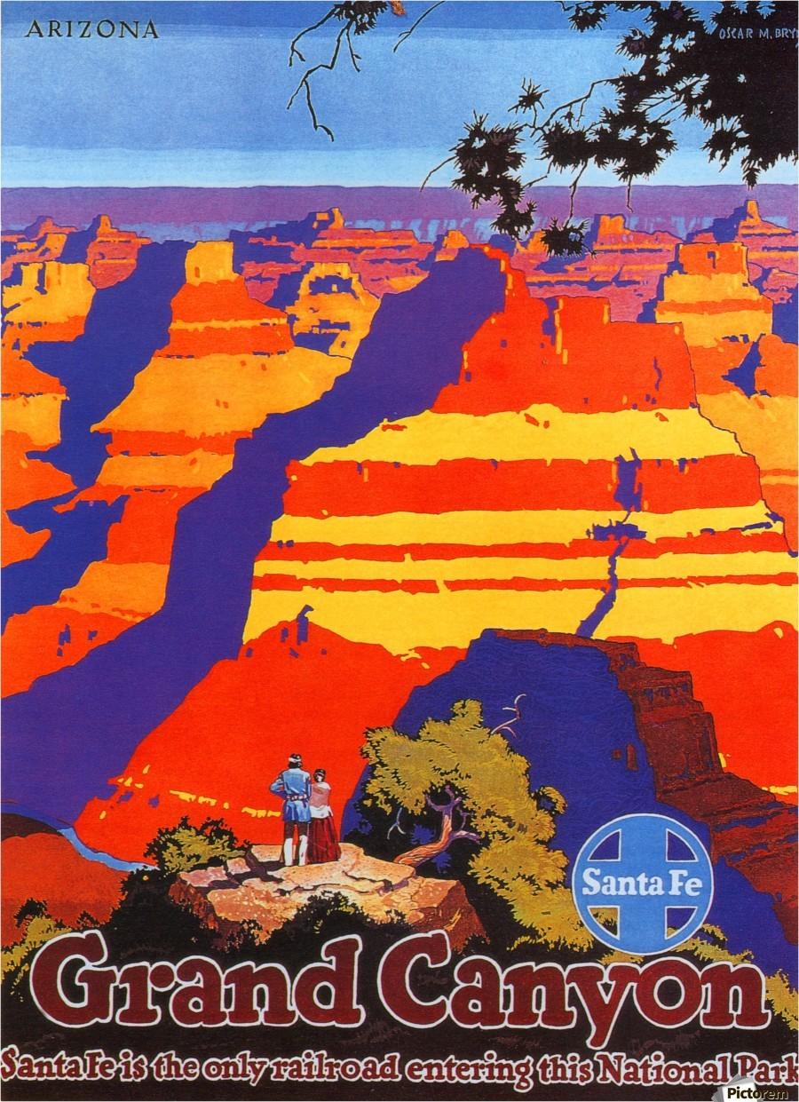 Arizona Grand Canyon Vintage Travel Poster  VINTAGE