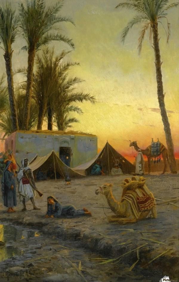 Desert Encampment - Peter Mork Monsted Canvas
