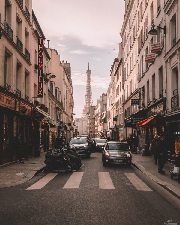 Paris Streets With Eiffel Tower - Gorgeousworld Store Canvas