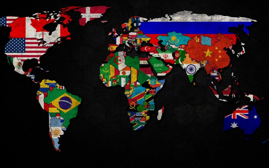 artwork for living room walls small layout ideas with tv world map country flag - worldflag canvas