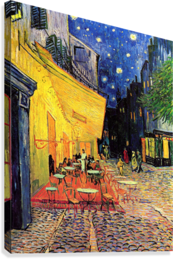 The Cafe Terrace on the Place du Forum Arles at Night by