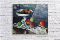 Still Life with Fruit Bowl by Cezanne - Cezanne Canvas