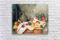 Still life, drapery, pitcher and fruit bowl by Cezanne ...