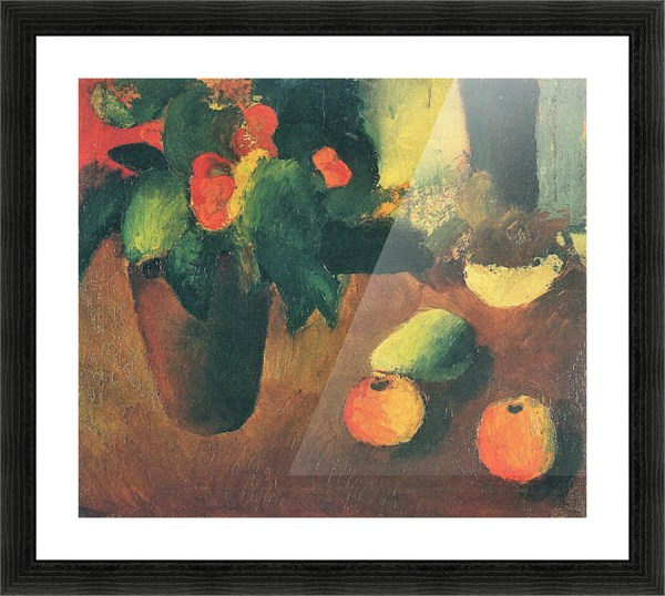 Life With Begonia Apples And Pear August Macke