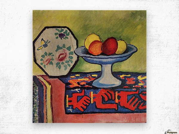 Life With Apple Peel And Japanese Fan August Macke - Canvas
