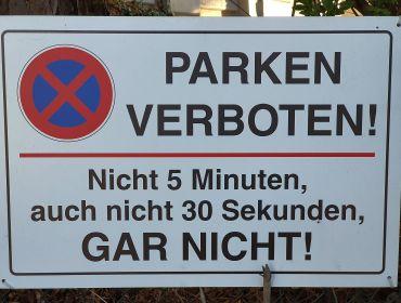 Foto Schild Parken verboten