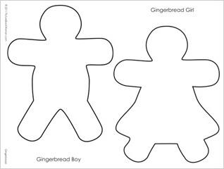 gingerbread girl template choice image template design ideas
