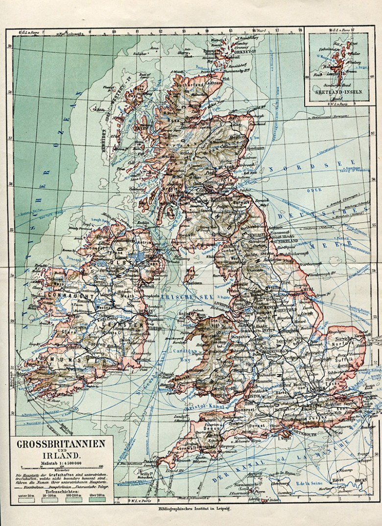 Old Map of Great Britain & Ireland