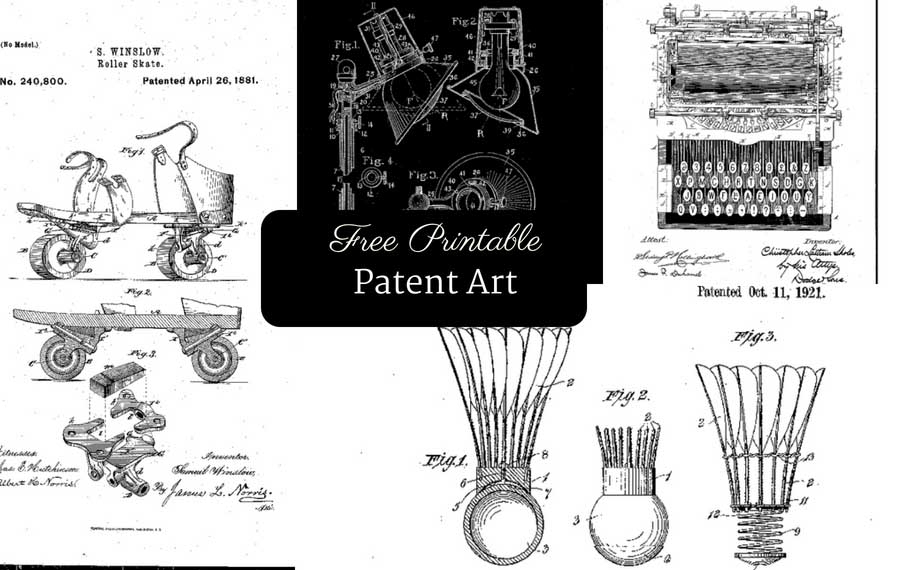 image relating to Free Printable Black and White Images named How Towards Create Totally free Printable Patent Artwork - Envision Box Blue