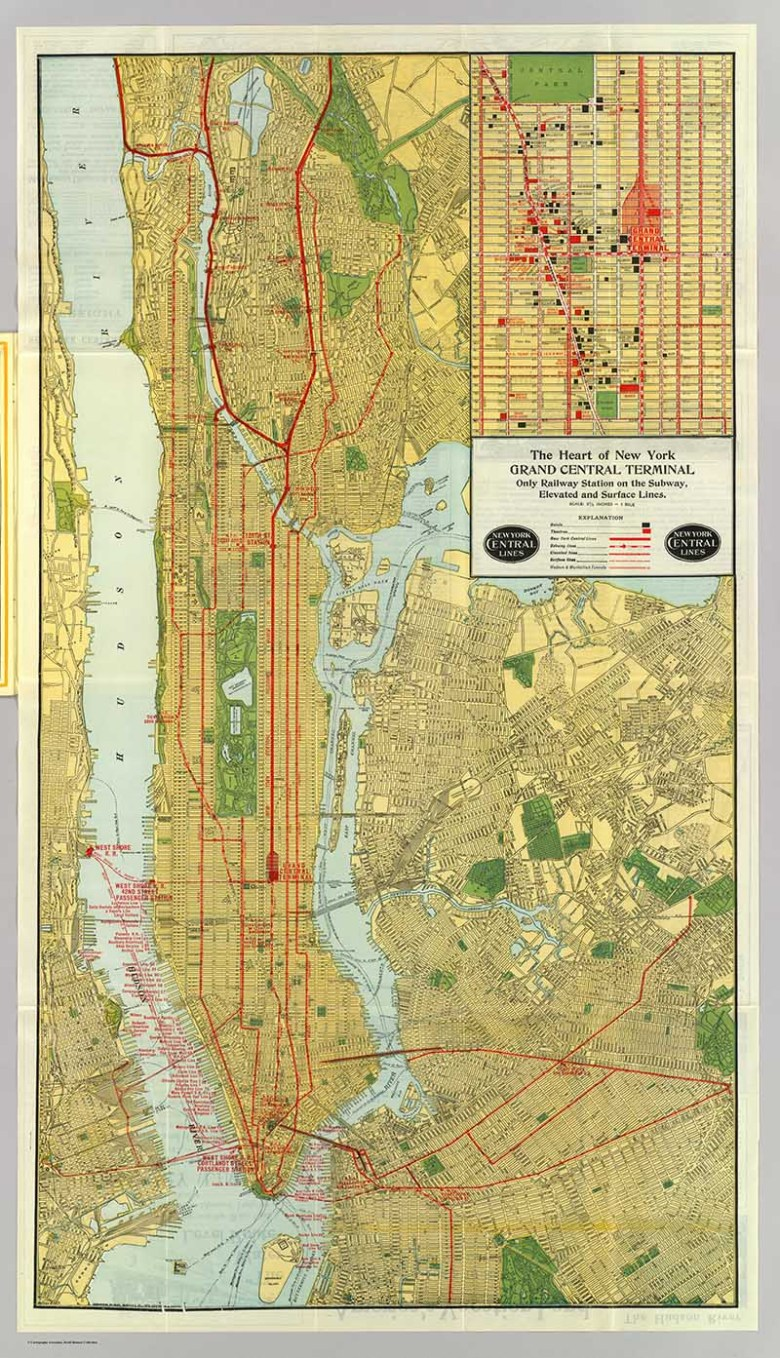 Vintage New York Maps - Pictureboxblue