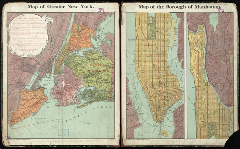 Vintage map of greater New York City