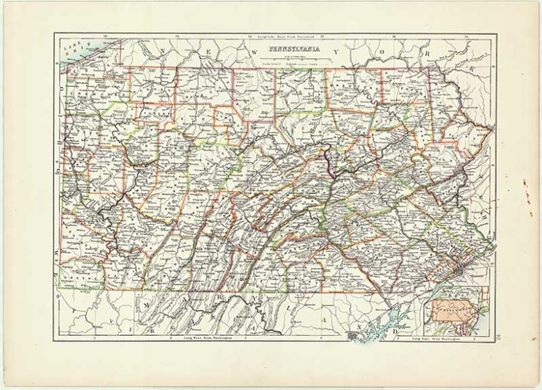 Free Antique US State Maps To Download (Mainly Midwest) - Picture ...