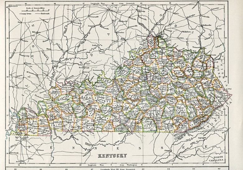 Antique Map of Kentucky