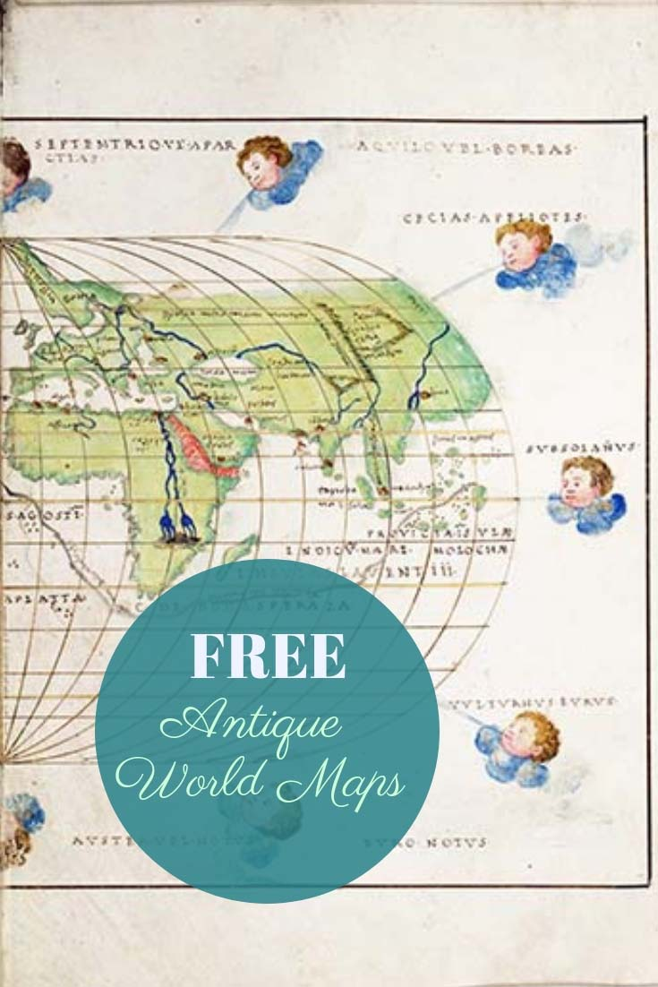 FREE antique world maps