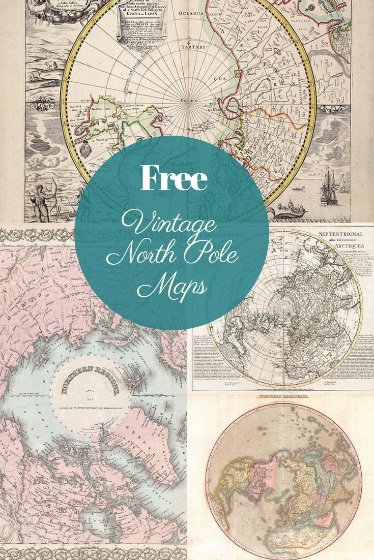 Free Vintage North Pole Maps To download