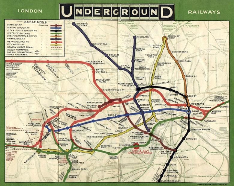 London Tube Map 1908
