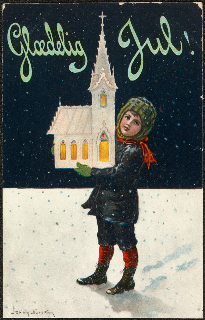 Danish Vintage Christmas card 1910
