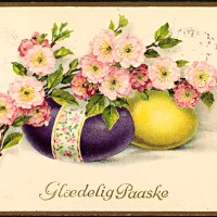 Free Vintage Easter Postcards And Free Favor Boxes
