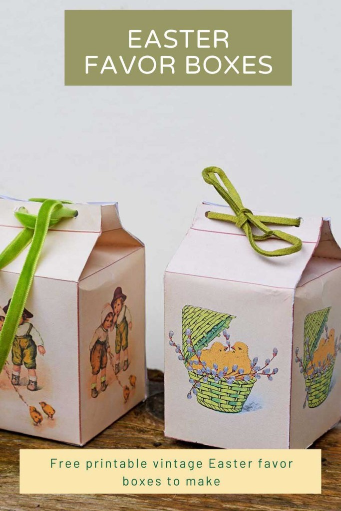 Free printable Easter favor boxes