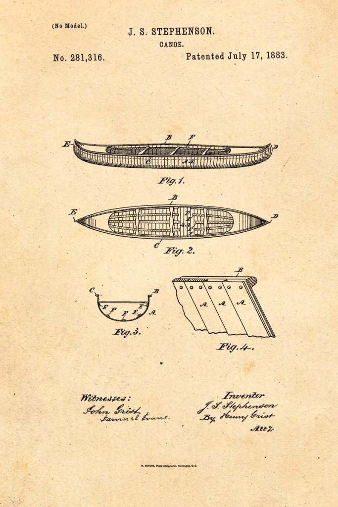 Canoe Patent 1883