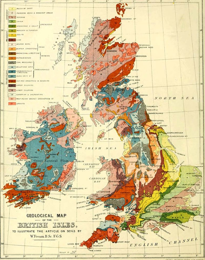 Geographical Map of the British Isles