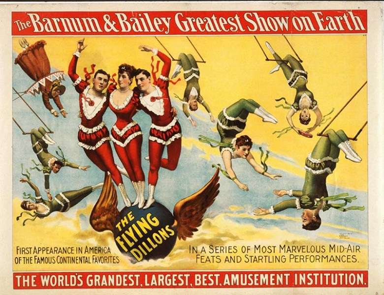 Advertising poster for the Flying Dillon