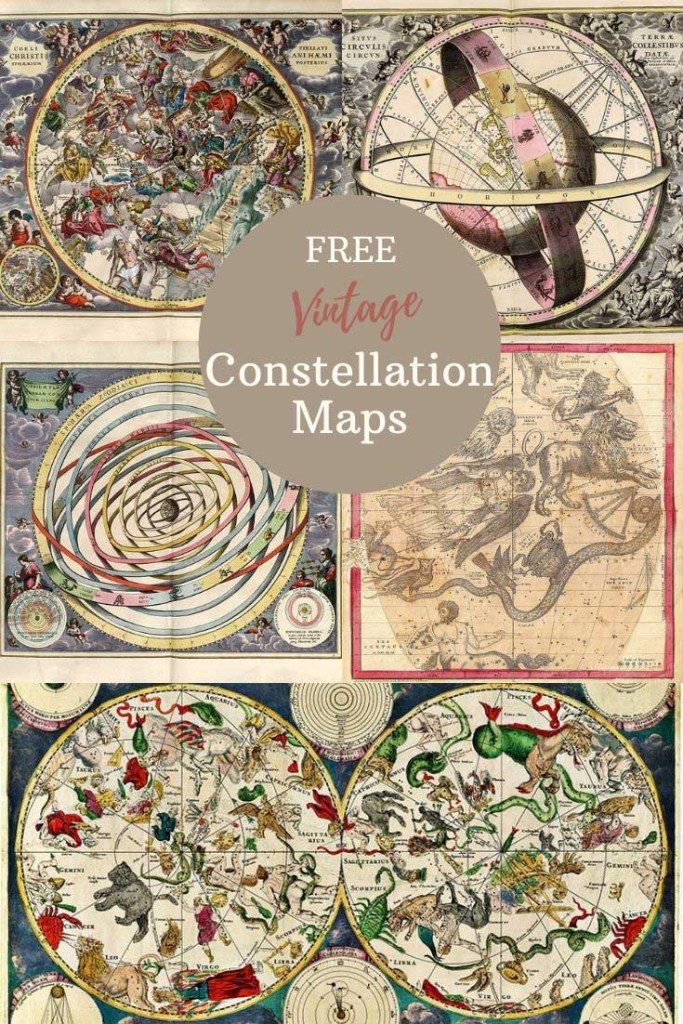 vintage constellation map posters