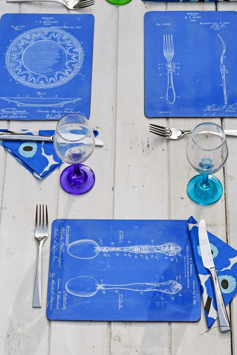decoupage upcycled diy placemat