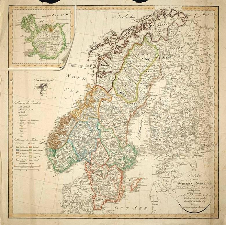 1809 Map of The Scandinavian peninsula