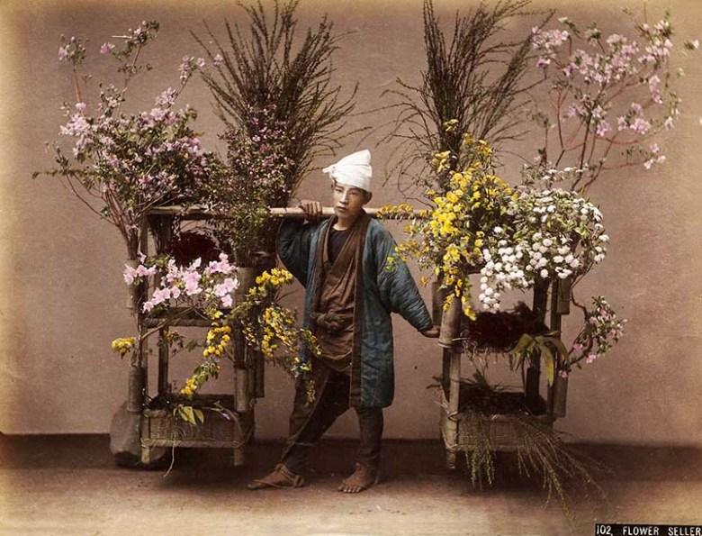 Kusakabe Kimbei Flower Seller