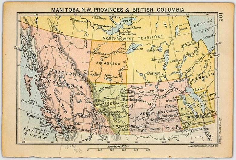 Manitoba and western Canada Map