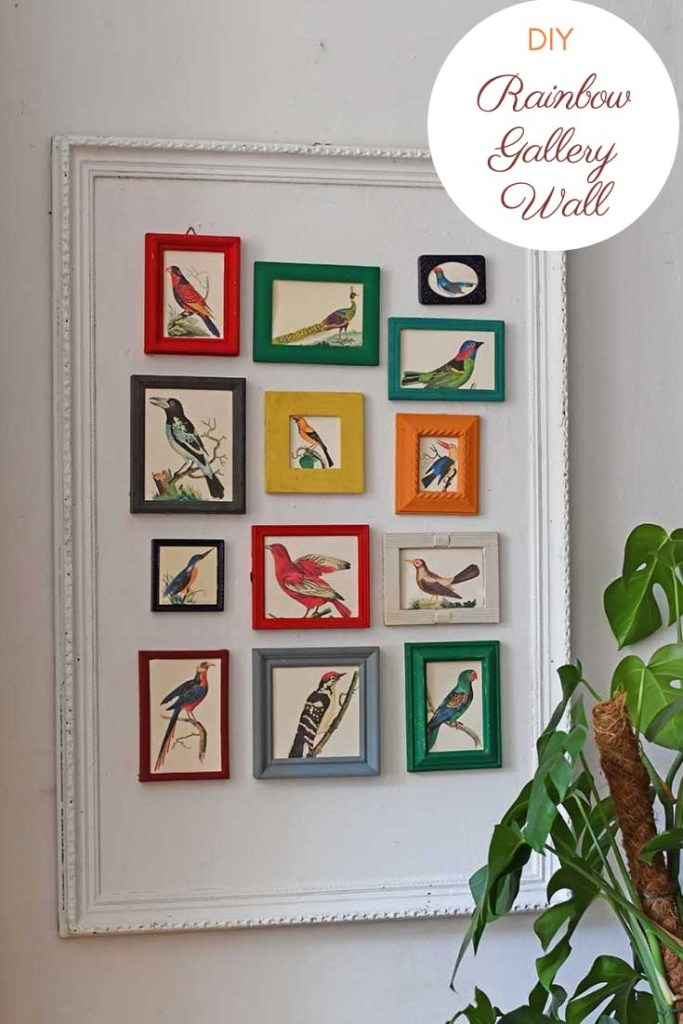 how to make a gallery wall with old picture frames