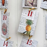 How To Make An Advent Calendar With An Old Dictionary