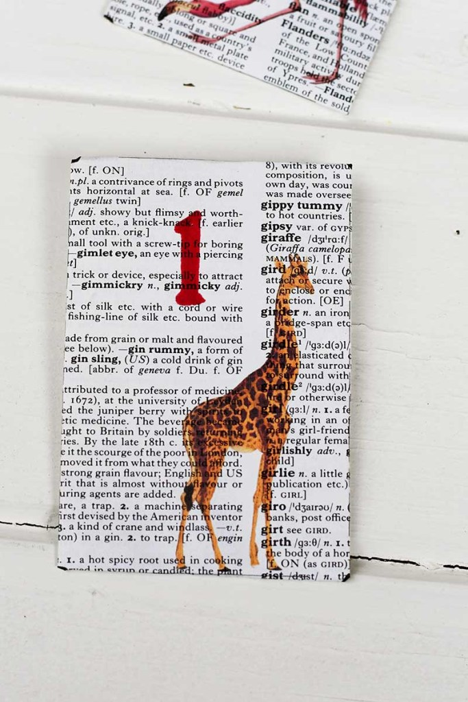 Giraffe envelope for advent calendar