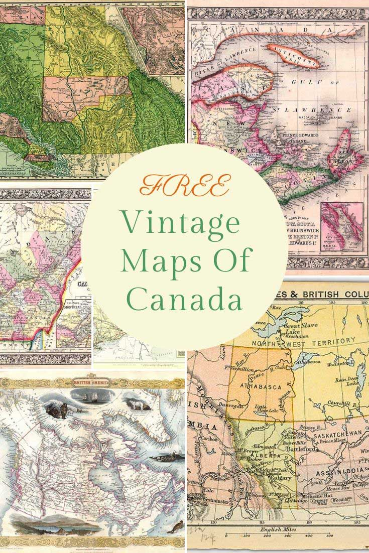 old maps of Canada