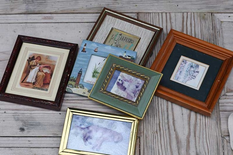 Thrifted old picture frames